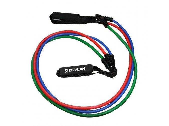 Nastaviteľný gumový expander DUVLAN 3 x 1,2 m
