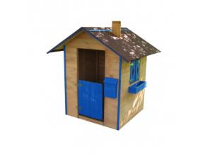 Detský drevený hrací domček