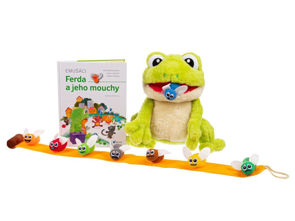 Emušáci: Ferda a jeho mouchy - jak zvládnout emoce u dětí | Scio, kniha a hračka