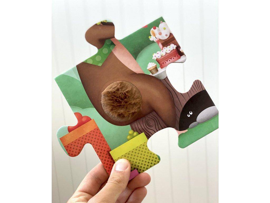 Hmatové podlahové puzzle Zvířátka na oslavě | Eureka Kids, 16 dílků