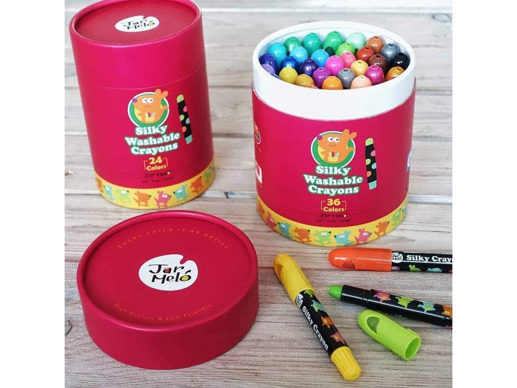 36 silky crayons 2