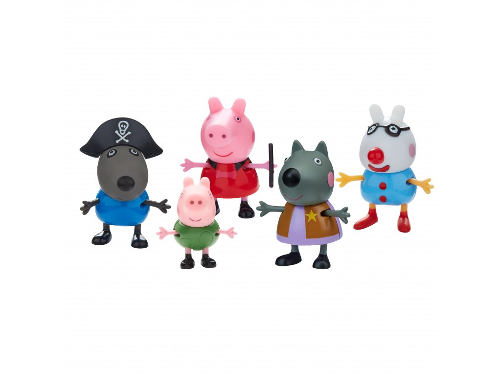 06667 Peppa Pig Fancy Dress 5 Figure Pack CPS