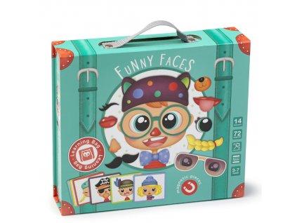 Kufřík s magnety - legrační obličeje| Eureka Kids