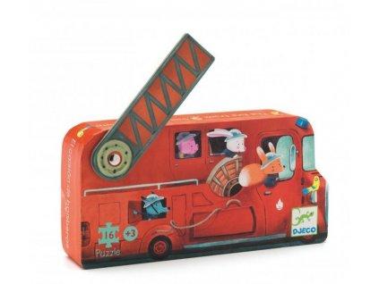 2037 1 djeco puzzle hasicske auto 16 dilku