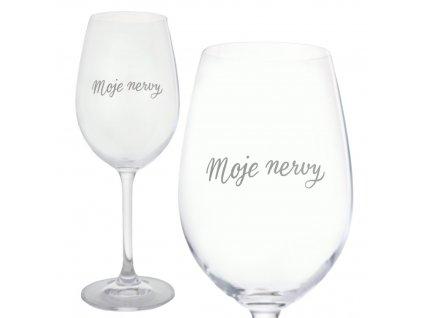 moje nervy sklenicka na vino