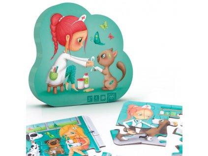 puzzle evolutivo veterinaria 4 en 1