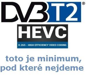 DVB-T2 HEVC je minimum toho, co nabízíme