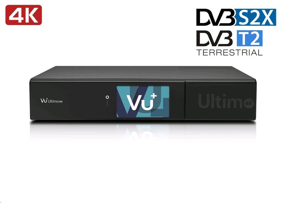 VU+ ULTIMO 4K DUAL DVB-T2 Konfigurace: DUAL DVB-T2, 1TB