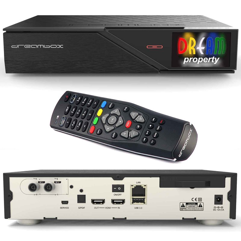 Dreambox DM900 UHD DUAL DVB-T2 Konfigurace: DUAL DVB-T2, 500 GB