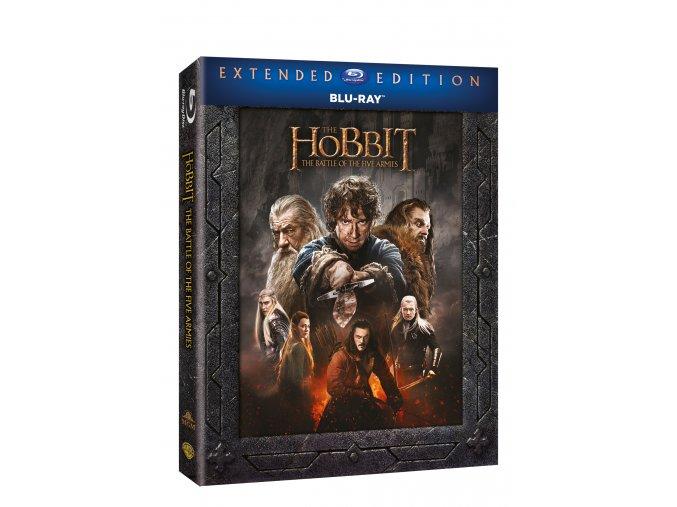 Blu-ray: Hobit: Bitva pěti armád - prodloužená verze 3BD