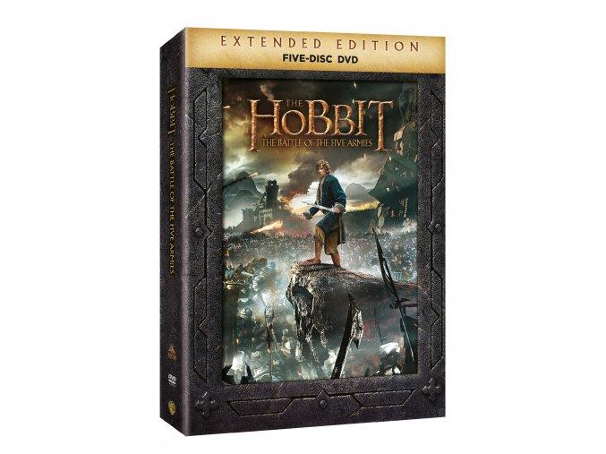 DVD: Hobit: Bitva pěti armád - prodloužená verze 5DVD
