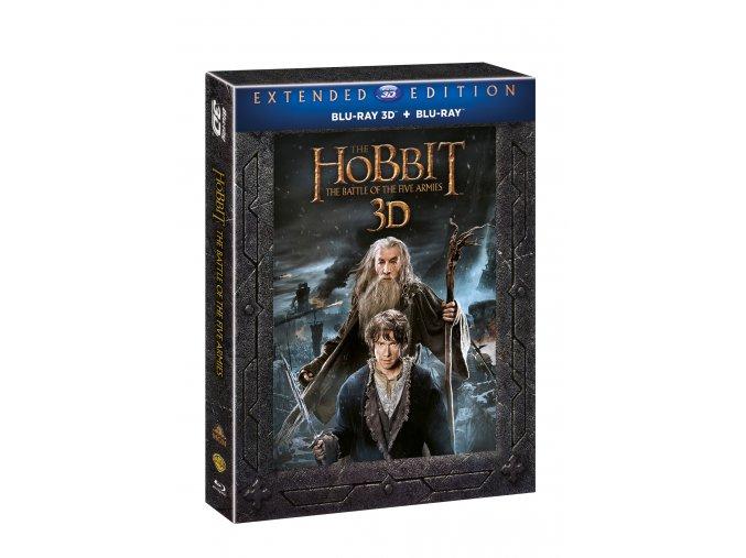 Blu-ray: Hobit: Bitva pěti armád - prodloužená verze 5BD (3D+2D)