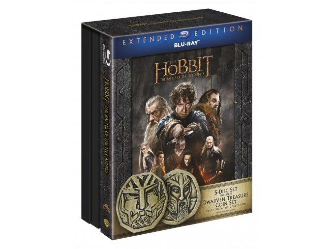 Hobit: Bitva pěti armád - prodloužená verze 5BD (3D+2D) Edice s mincemi