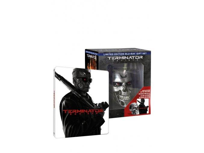 Terminator Genisys - sběratelské balení s lebkou 3BD (3D+2D+Bonus BD) - steelbook