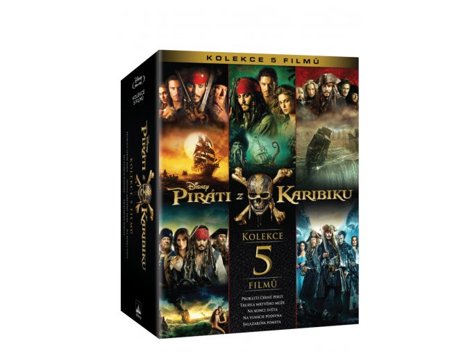 Piráti z Karibiku kolekce 1 5 5BD Magic Box