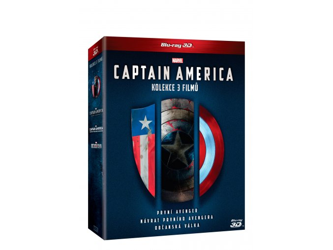 Blu-ray: Captain America trilogie 1.-3. 6BD (3D+2D)
