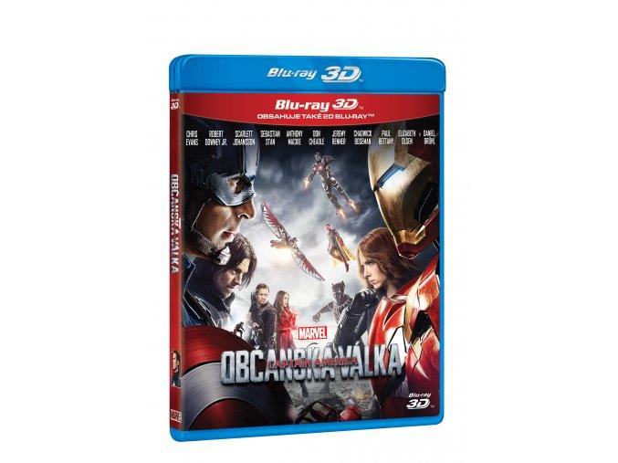 Blu-ray: Captain America: Občanská válka 2BD (3D+2D)