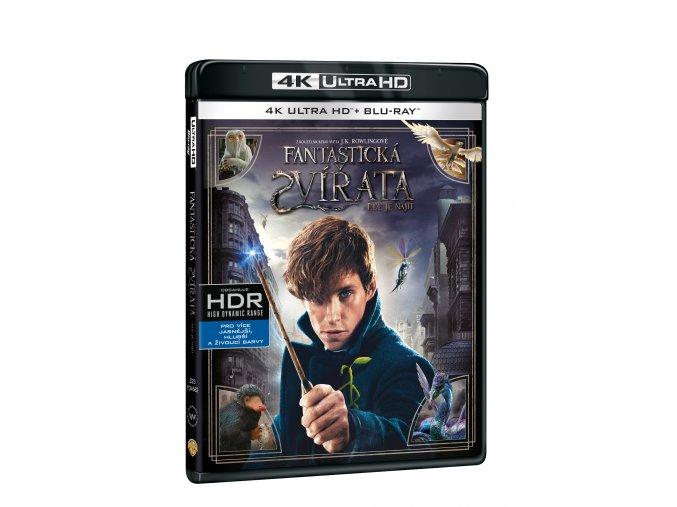 Blu-ray: Fantastická zvířata a kde je najít (4K Ultra HD) - UHD Blu-ray + Blu-ray (2 BD))