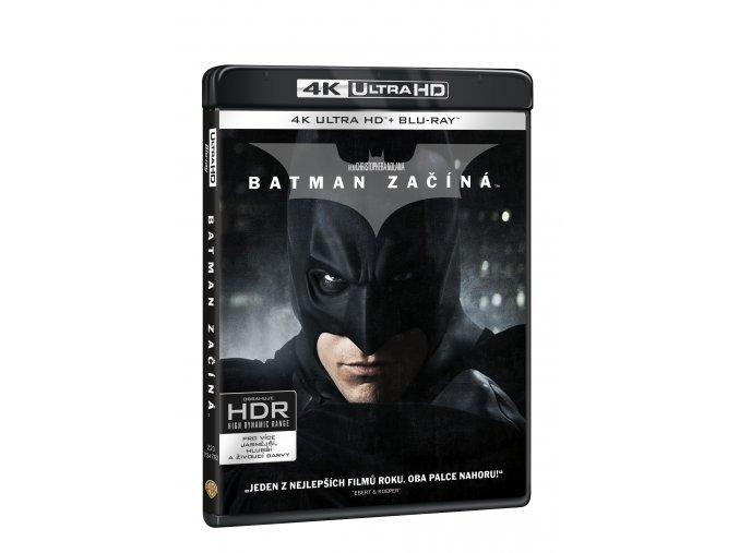 Blu-ray: Batman začíná - (4K ULTRA HD) - UHD Blu-ray + Blu-ray + bonus disk (3 BD)