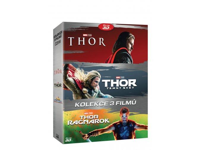 Blu-ray: Thor kolekce 1-3 6BD (3D+2D)