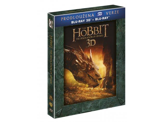 Blu-ray: Hobit: Šmakova dračí poušť - prodloužená verze 5BD (3D+2D)
