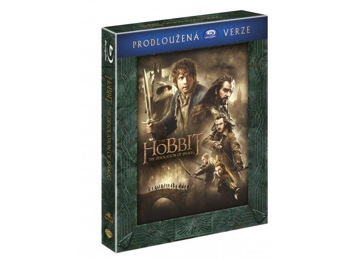 Blu-ray: Hobit: Šmakova dračí poušť - prodloužená verze 3BD