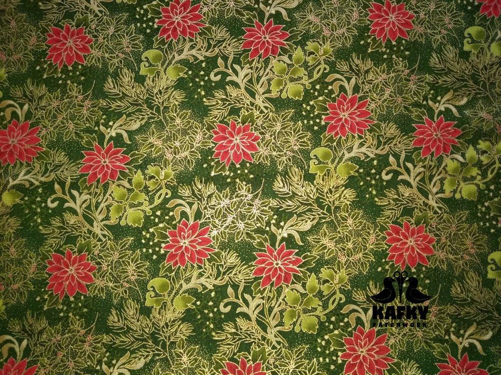 Gilded greenery Metallic green