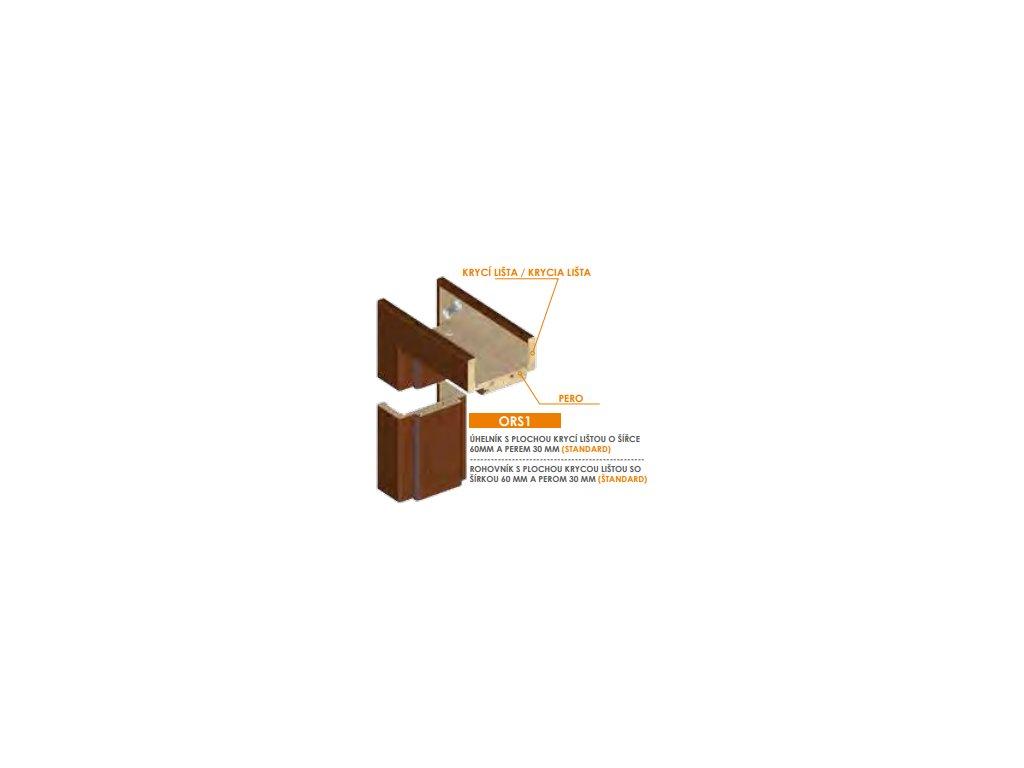 Invado nastaviteľná zárubňa falcová pre hrúbku steny (440-459 mm)