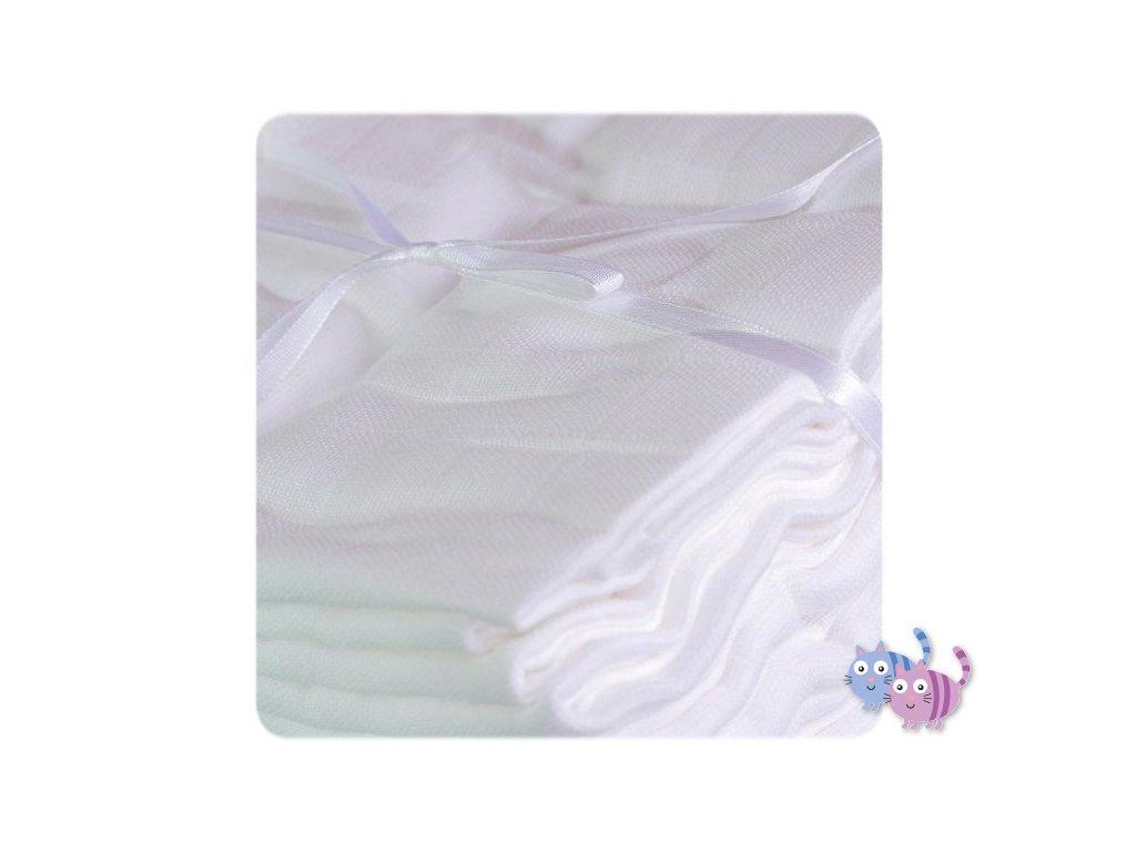 Bavlněné pleny  10 ks > varianta bílá