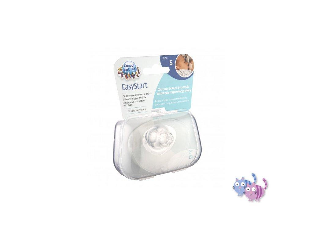 Canpol babies Chránič prsní bradavky EasyStart malý S 2ks