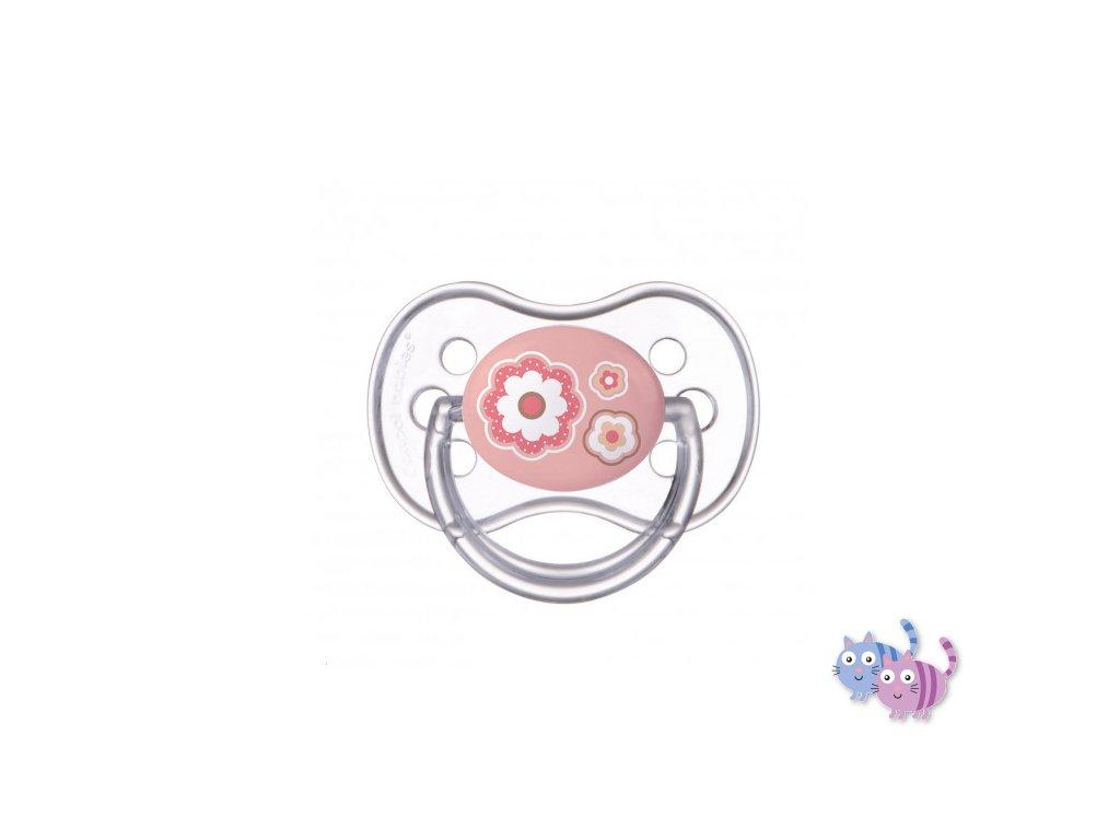 A - Canpol babies Dudlík kaučukový třešinka  0-6m NEWBORN BABY