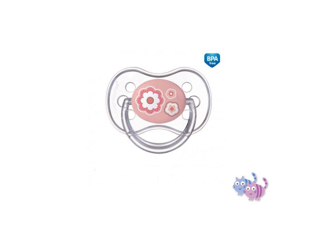 Canpol babies Dudlík 6-18m silikonový třešinka NEWBORN BABY