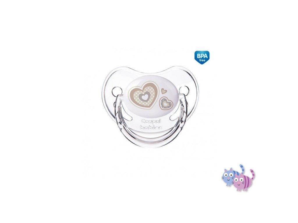 Canpol babies Dudlík silikonový anatomický 6-18m NEWBORN BABY béžový