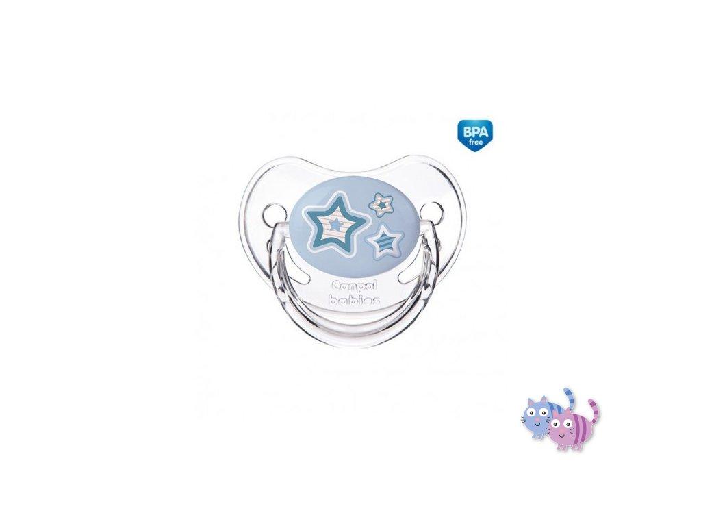 Canpol babies Dudlík 6-18m silikonový anatomický NEWBORN BABY modrý