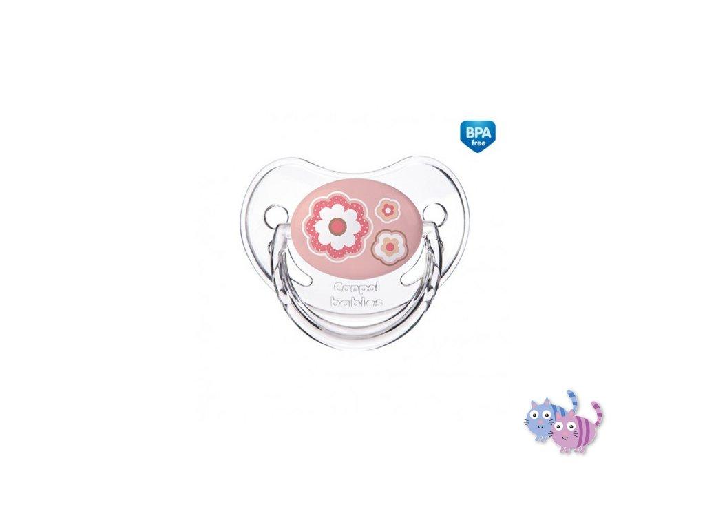 Canpol babies Dudlík 6-18m silikonový anatomický NEWBORN BABY růžový