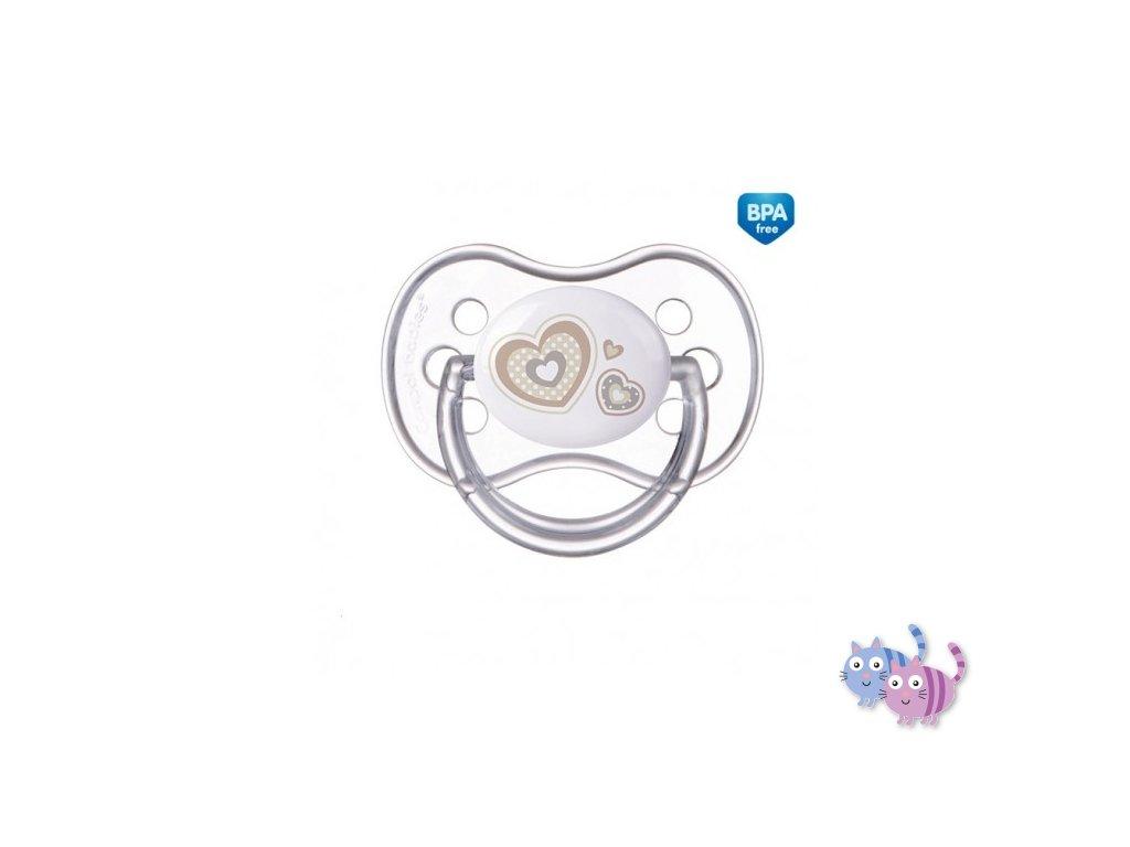 Canpol babies Dudlík 0-6m silikonový symetrický NEWBORN BABY béžový