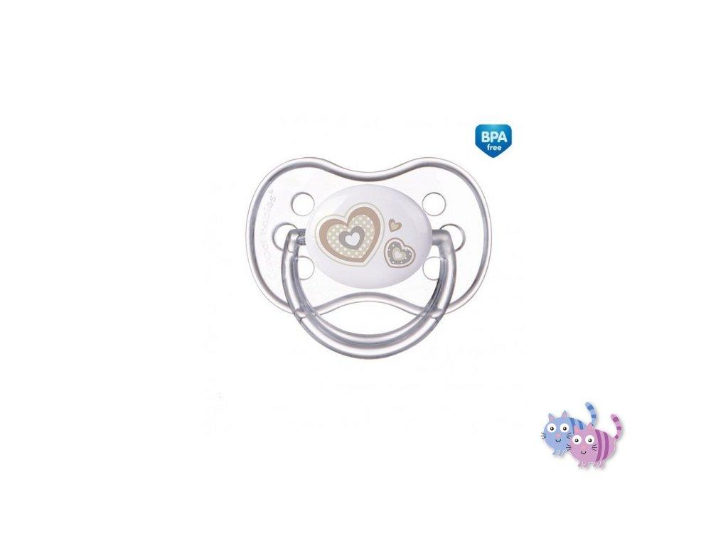 Canpol babies Dudlík 18m+ silikonový symetrický NEWBORN BABY