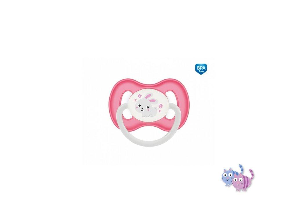 Canpol babies Dudlík 6-18m kaučukový třešinka BUNNY & COMPANY růžový