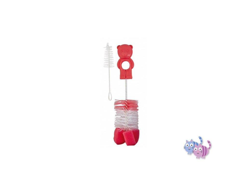 Canpol babies Kartáč na čištění láhví s hubkou