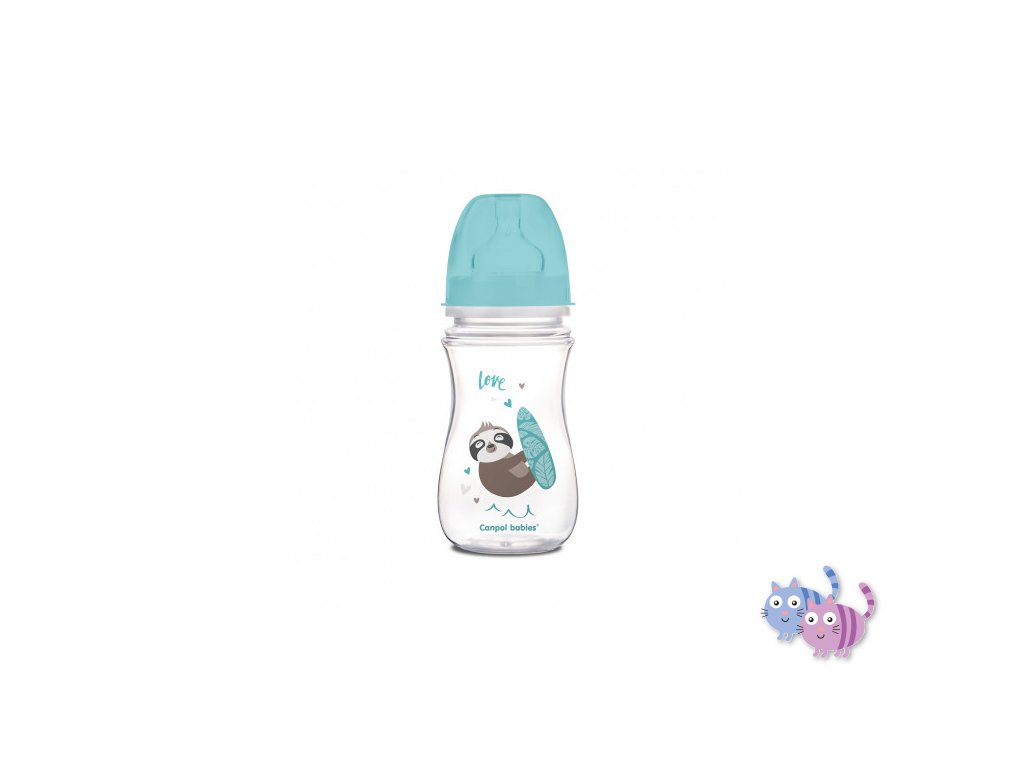 Canpol babies Láhev se širokým hrdlem EXOTIC ANIMALS 240 ml