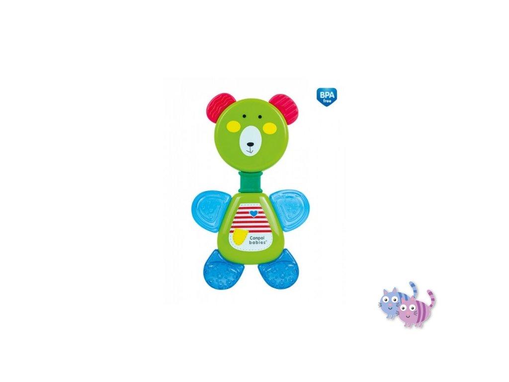 Canpol babies Chladící kousátko s chrastítkem medvídek