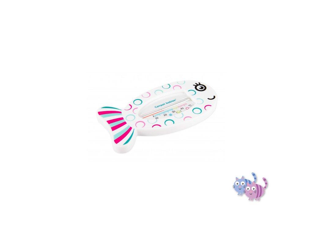 Canpol babies Teploměr koupací FISH růžová ryba