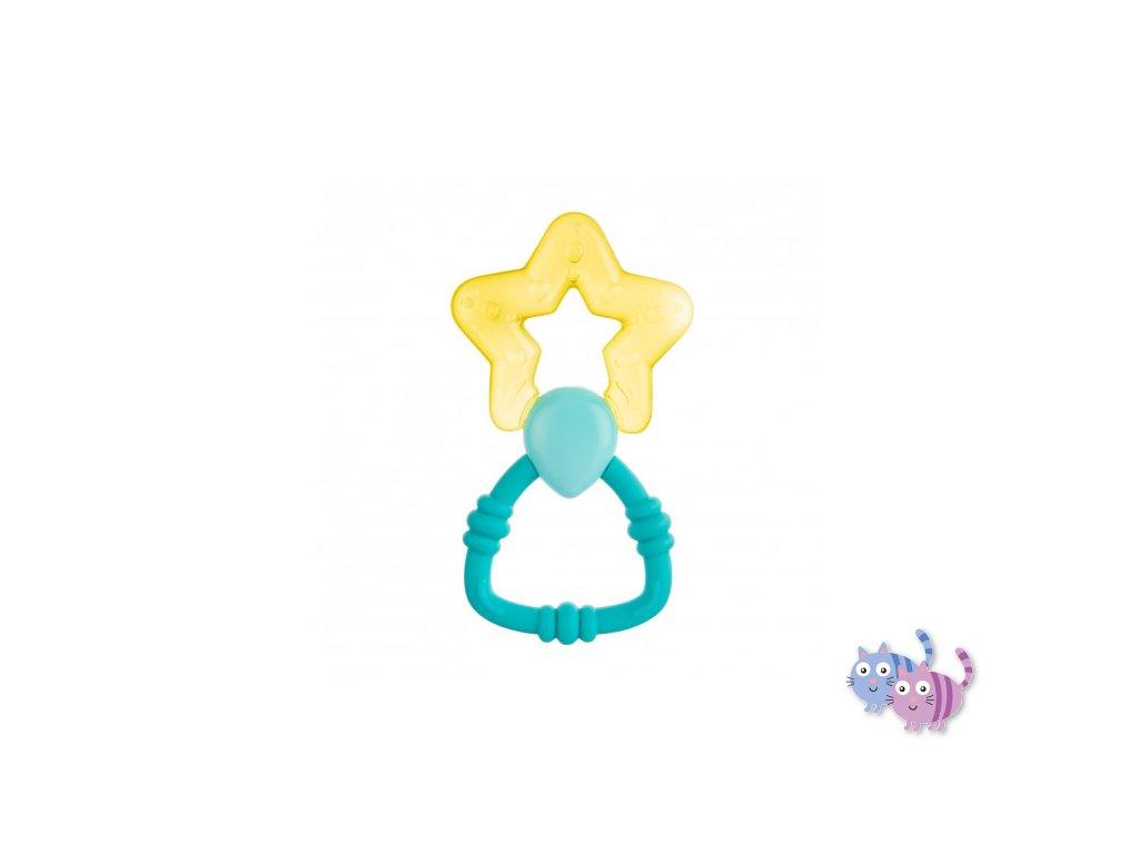 Canpol babies Chladící kousátko s chrastítkem magická hůlka žlutá