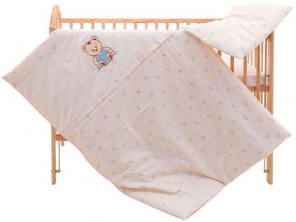 Dětské povlečení 2dílné - Scarlett Méďa - béžové 100 x 135 cm