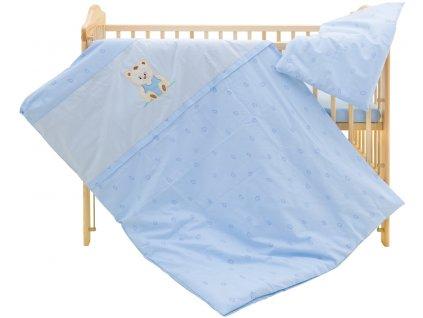 Dětské povlečení 2dílné - Scarlett Méďa - modré 100 x 135 cm