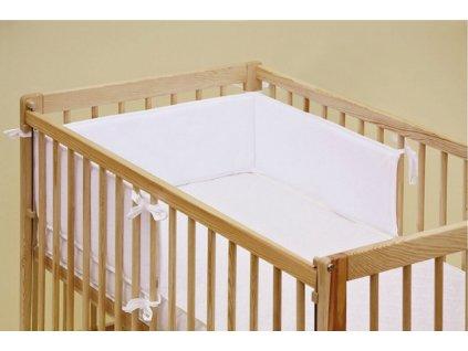 Mantinel do dětské postýlky - Scarlett froté - 180 x 20 cm - bílá