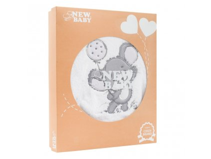 14-dílná luxusní kojenecká souprava New Baby Little Mouse v EKO krabičce