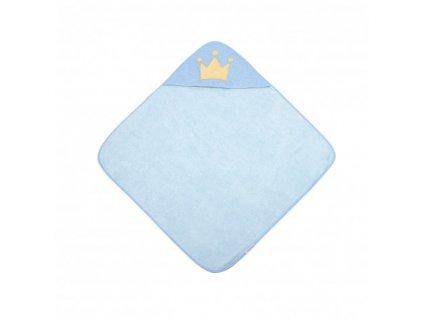Canpol babies Měkká osuška s kapucí 85x85cm ROYAL BABY modrá