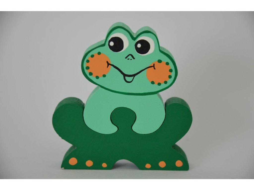 Dřevěné puzzle - žába