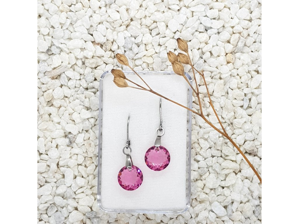 růžové kulaté menší